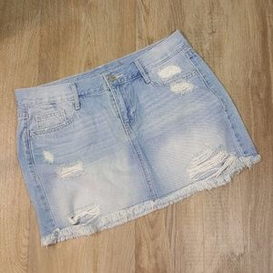Old Navy Jeans Skirt 4 Waist 31 Ultra Low Rise